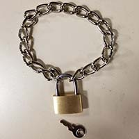 Padlock & Chain Bracelet by Ape Leather
