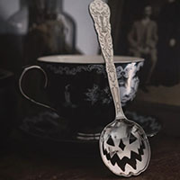 Haunted Hallows Tea Spoon by Lively Ghosts - Silver