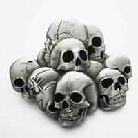Pile Of Skulls Belt Buckle (bb125)