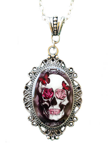 Skull & Roses Necklace by Alkemie