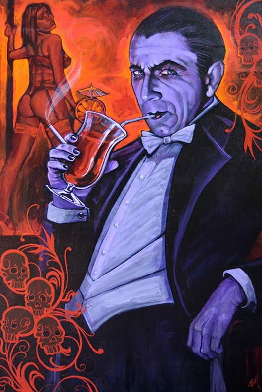 Dracula Mike Bell -  Fine Art Print - Smarmy Extraoridinaire
