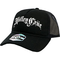 Motley Crue- Logo on a black trucker hat
