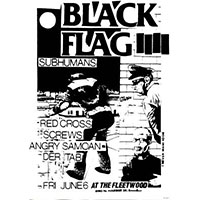 Black Flag / Subhumans- Flyer Poster