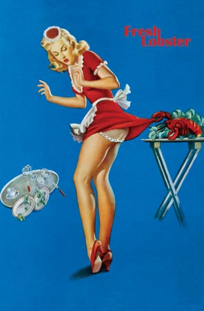 Fresh Lobster (Pin Up) poster (B6)