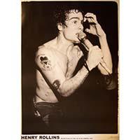 Black Flag- Rollins Live Poster