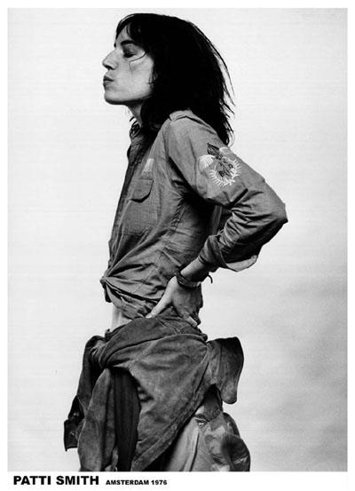 Patti Smith- Amsterdam 1976 poster