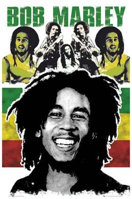 Bob Marley- Face & Pics Poster