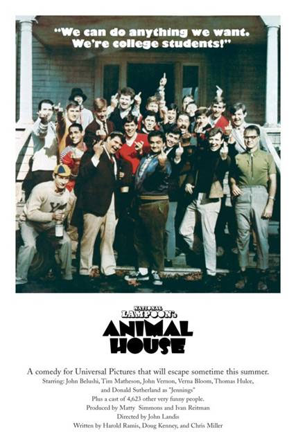 Animal House- We're College Students poster