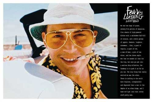 Fear And Loathing In Las Vegas- Quote poster