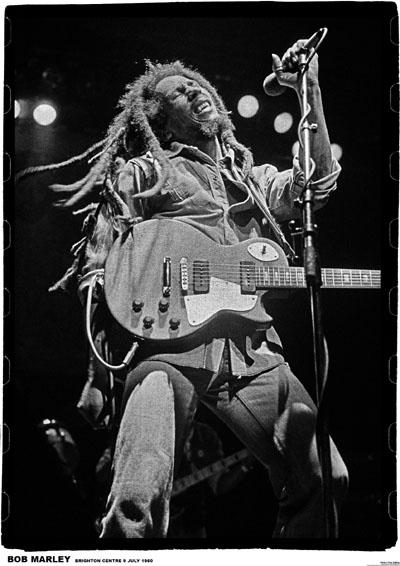 Bob Marley- Brighton 1980 Poster