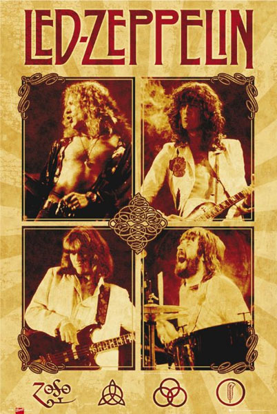 Led Zeppelin- Quad poster