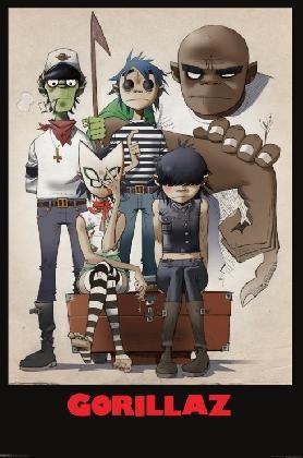 Gorillaz- Cartoon Poster