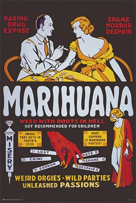 Marihuana, Weed With Roots In Hell poster