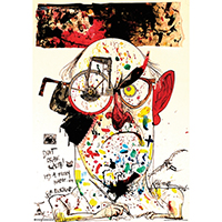 Ralph Steadman Art- Self Portrait poster (D7)
