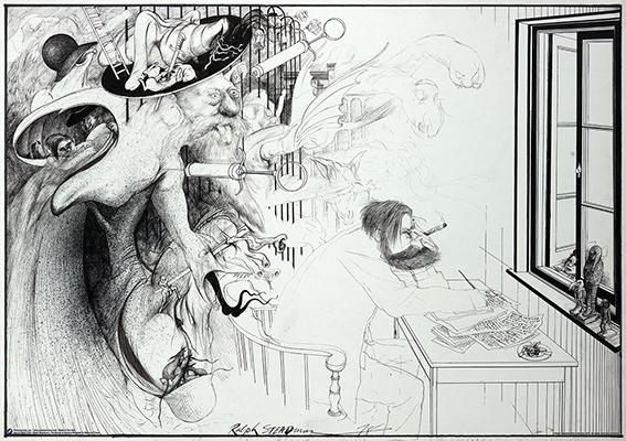 Ralph Steadman Art- Dreams poster
