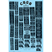 CBGBs- Gigs Poster