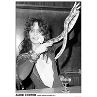 Alice Cooper- 1971 Snake poster
