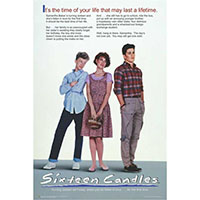 Sixteen Candles- It's The Time Of Your Life poster