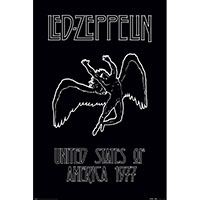 Led Zeppelin- USA 1977 poster (D9)