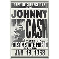 Johnny Cash- Folsom State Prison poster