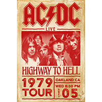 AC/DC- Highway To Hell Tour 1979 poster