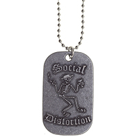 Social Distortion- Dog Tag Necklace (comes with chain)