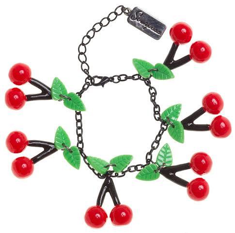 Bombshell Cherry Charm Bracelet by Sourpuss - SALE - last one