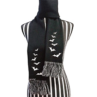 Luna Bats Knit Scarf by Sourpuss