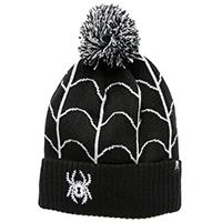 Spider & Web Pom Beanie / Knit Hat by Sourpuss Clothing