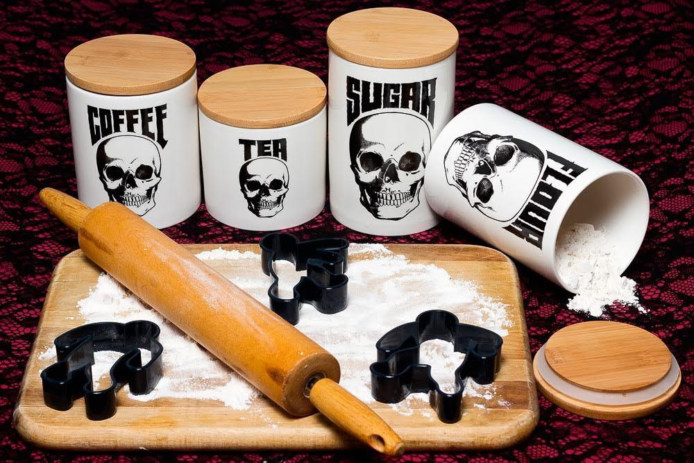 Skull Canister Set by Sourpuss