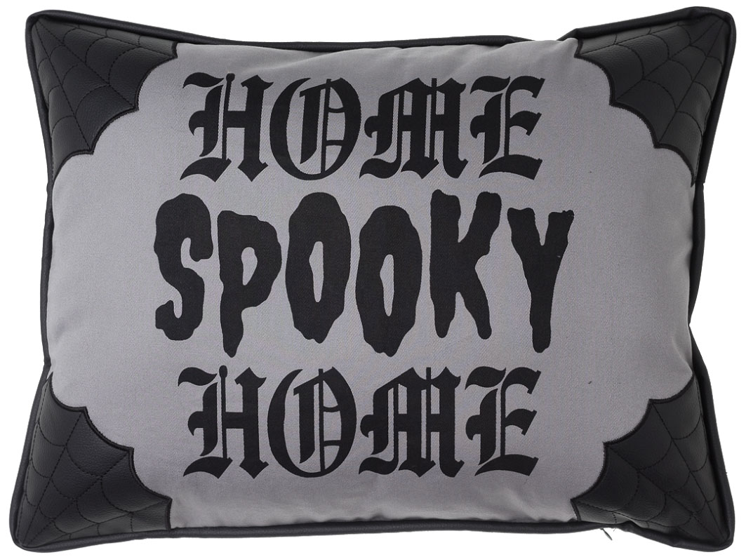 Canvas Home Spooky Home Pillow by Sourpuss