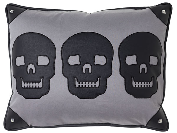 Canvas Skulls Pillow by Sourpuss