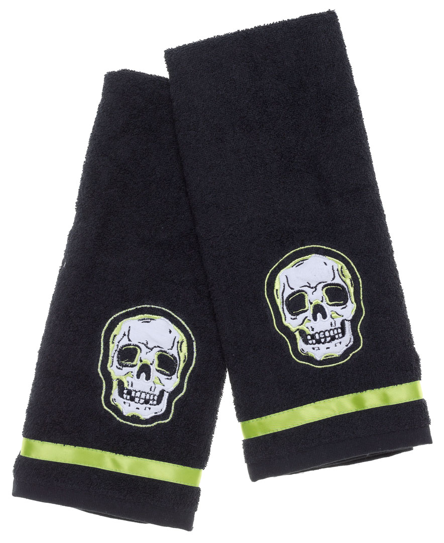 Phantom Skull Hand Towel Bathroom Set by Sourpuss