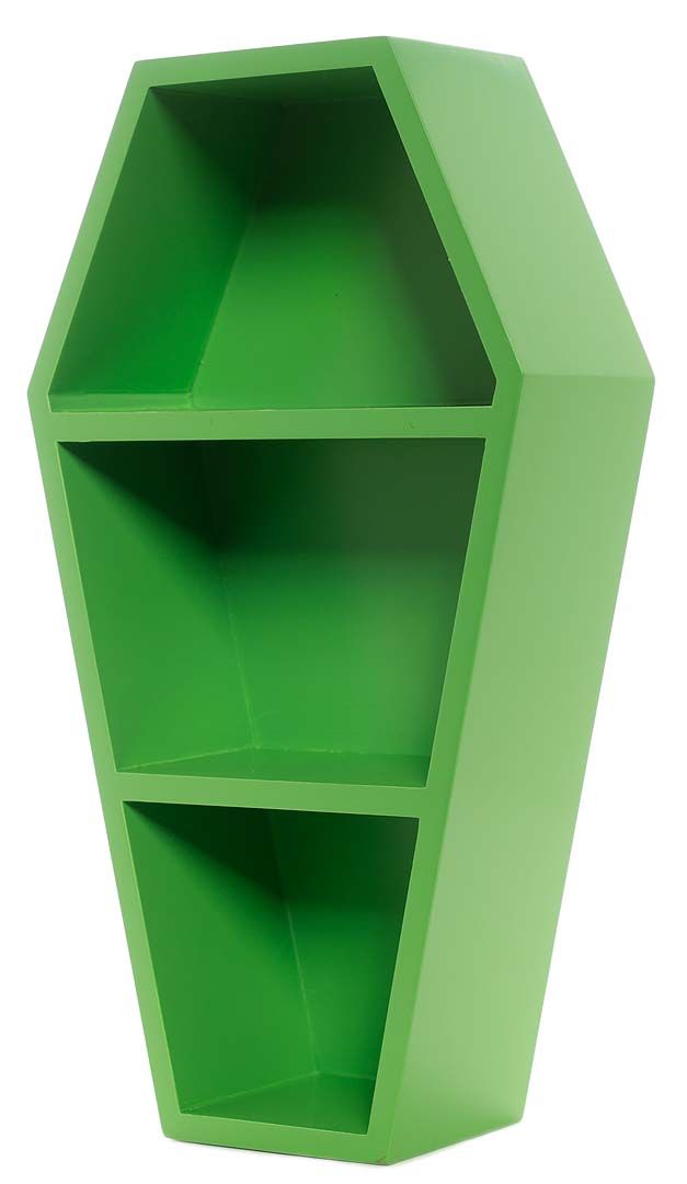 Green 3 Tier Coffin Shelf by Sourpuss