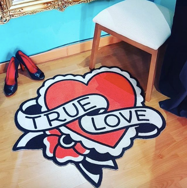 True Love Rug by Sourpuss