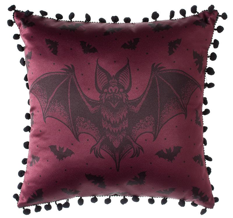 Red Bat Batt Attack Pillow by Sourpuss