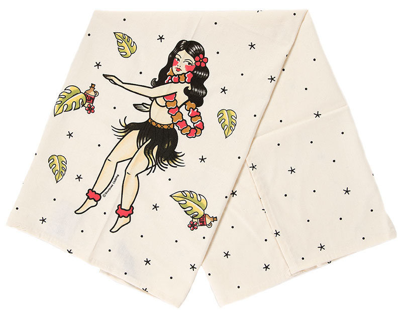 Hula Gal Dish Towel by Sourpuss - SALE