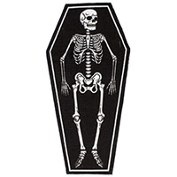 Skeleton Coffin Rug by Sourpuss
