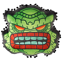 Fishman Tiki Pillow by Sourpuss
