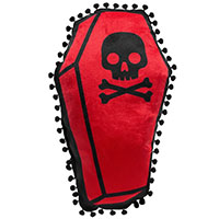 Coffin Shaped Pillow by Sourpuss