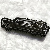 Hearse Shaped Pillow by Sourpuss