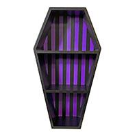 3 Tier Coffin Shelf by Sourpuss - Black & Purple Striped