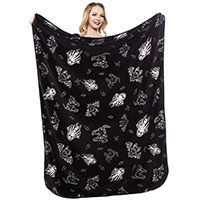 Creep Heart So Cute It's Spooky Fleece Blanket from Sourpuss