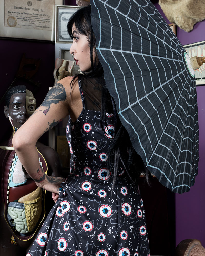 Spiderweb Parasol from Sourpuss