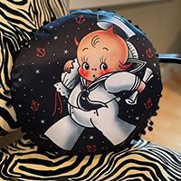 Sailor Cupie Baby Pillow by Sourpuss - round