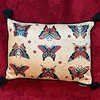 Tattoo Flash Butterflies Pillow by Sourpuss
