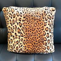 Square Velvet Pillow by Sourpuss - Leopard