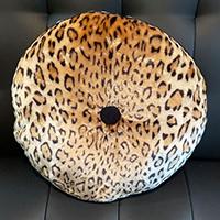 Tuffted Round Velvet Pillow by Sourpuss - Leopard