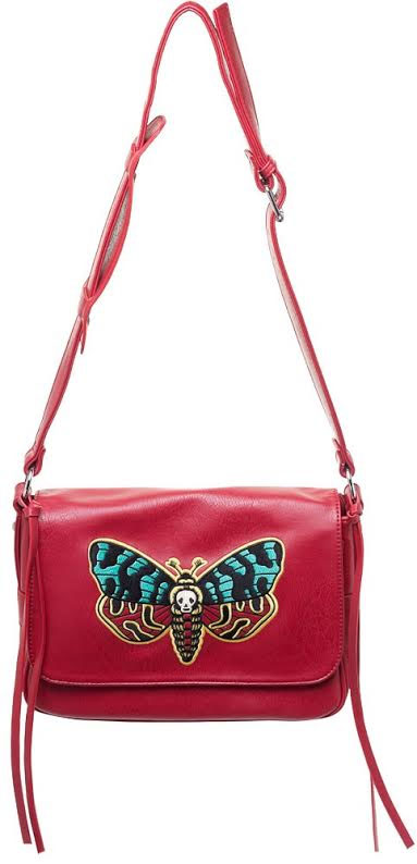 Cheap Thrills Purse  by Sourpuss - Deaths Head Moth - SALE