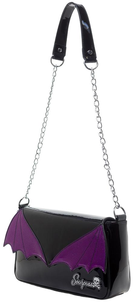 Bat Wing Clutch / Purse in by Sourpuss - in purple